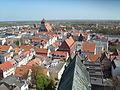 Greifswald Altstadt-und-Markt vom-Turm-des-Doms-St.-Nikolai-aus-gesehen April-2009 SL272400.JPG