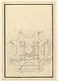 Ground Plan of a Catafalque for Francis Lewis of Newburg, Archshop of Mainz (died Breslau 1732) MET DP820106.jpg