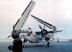 Grumman C-1A Trader aboard USS Coral Sea (CVA-43), in 1973.jpg