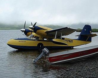 Grumman G-44 Widgeon - A Grumman Widgeon on Frazier Lake on the southwest end of Kodiak Island, Alaska