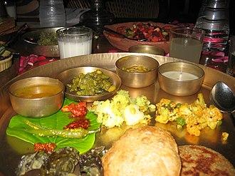 Thali - Image: Gujarati thali