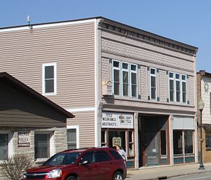 National Register of Historic Places listings in Adams County, Wisconsin - Image: Gunning–Purves Building 2012