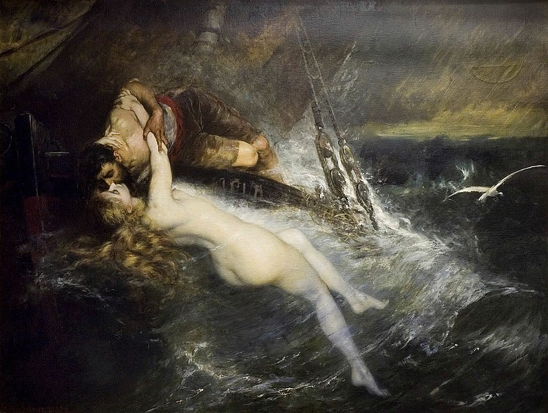 "Gustav Wertheimer's  ""The Kiss of the Siren"" wherein that sailor is totally getting drowned in a moment."