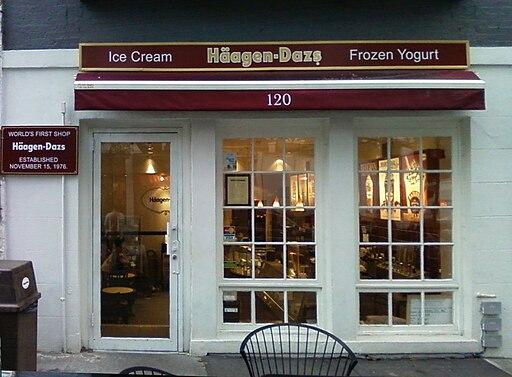Häagen-Dazs' first shop