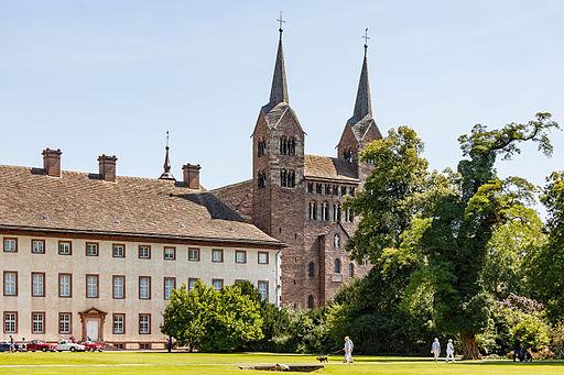 Kloster Corvey mit karolingischem Westwerk. Höxter Germany Corvey Abbey