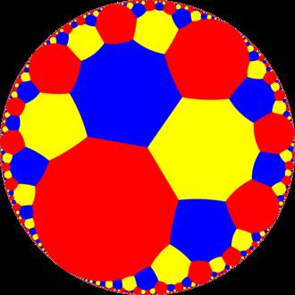Truncated infinite-order square tiling - Image: H2 tiling 44i 7