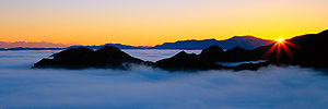 Malibu, California - Dawn in the Santa Monica Mountains