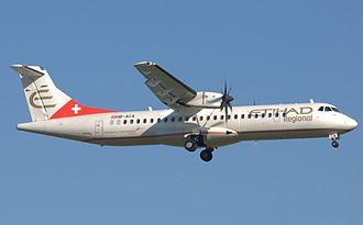 Darwin Airline - Darwin Airline ATR 72-500 in former Etihad Regional livery