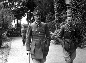 Henri Giraud - Captured French General Giraud, during his daily walk. Germany, c. 1940–41.