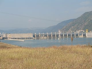 Iron Gate I Hydroelectric Power Station Dam in Iron GateSerbiaRomania