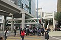 HK 觀塘道 Kwun Tong Road 康寧道 Hong Ning Road visitors footbridge traffic light n MTR road line morning December 2018 IX2 01.jpg