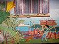 HK ALC 港鐵 MTR 海怡半島站 South Horizons Station platform wall mural Mosaics art 香港仔避風塘 Aberdeen Typhoon Shelter Soaring Horizons 翱遊半島 Pow Chuek Mei 鮑卓微 Dec 2016 Lnv2 03.jpg