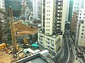 HK Mid-levels 堅道 Caine Road 寶樺軒 Casa Bella view Construction site Jan-2012.jpg
