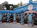 HK Shatin 史諾比開心世界 Snoopy's World blue gate sign n Birchwood School May-2016 DSC.JPG