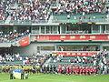 HK Stadium football teams national song on.JPG