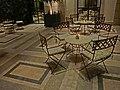 HK night Causeway Bay 禮頓道 Leighton Road 敬誠街 Keswick Street Lanson Place lobby restaurant interior furniture table chairs Jun-2014.JPG