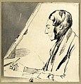 HUA-105531-Portret van Johannes van Liefland geboren 1809 kunstschilder te Utrecht en schrijver over Utrechts verleden overleden 1861 Borstbeeld links zittend te.jpg