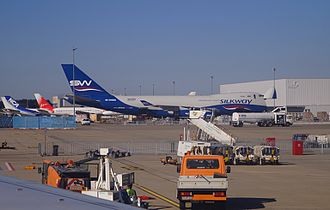 Frankfurt–Hahn Airport - Overview of the cargo apron