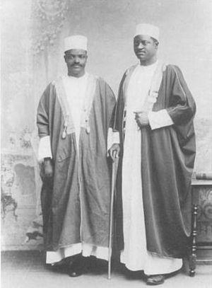 Apolo Kagwa - Apolo Kagwa (right) with his secretary Ham Mukasa, 1902