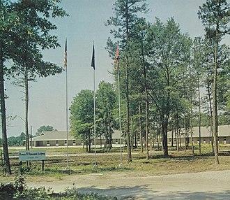 Hammond School (South Carolina) - The Hammond School campus in 1966. Like many segregation academies, the school flew the Confederate flag.