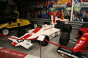 Embassy Hill - The Lola T370 of the 1974 season displayed at Haynes International Motor Museum