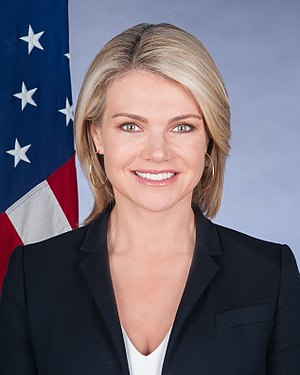 Spokesperson for the United States Department of State - Image: Heather Nauert official photo