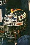 Heinz-Harald Frentzen Helmet at the 1997 British Grand Prix (1).jpg