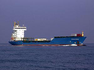 Helena Sibum IMO 9390824 approaching Port of Rotterdam, Holland.JPG