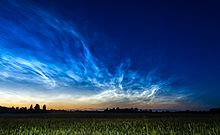 Noctilucent cloud - Wikipedia
