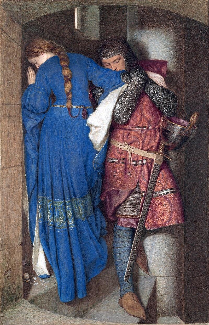 Нет, это не они, просто картина условно по теме. У. Бертон. Встреча на лестнице башни. Изображение из Википедии