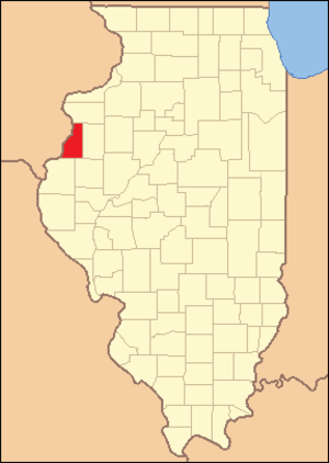 Henderson County, Illinois - Image: Henderson County Illinois 1841