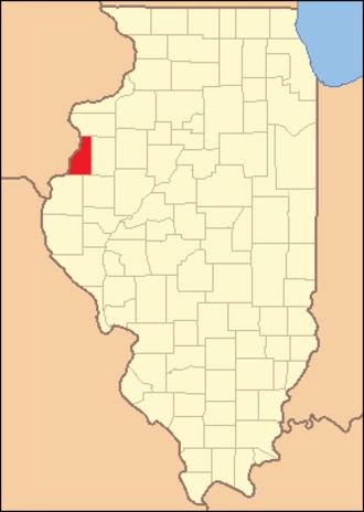 Henderson County, Illinois - Image: Henderson County Illinois 1841