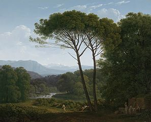 Italianate Landscape with Pines