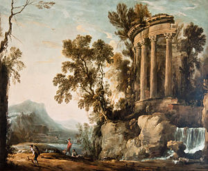Musée Bossuet - Henri Mauperché: Landscape with the temple of the Sybil