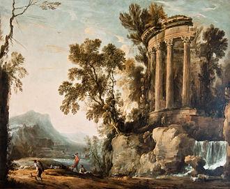 Musée Bossuet - Henri Mauperché: Landscape with the temple of the Sybil