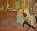 Henri de Toulouse-Lautrec (1864-1901) Au salon de la rue des Moulins (pastel 1894) Musée Toulouse-Lautrec Albi 9-10-2019.JPG