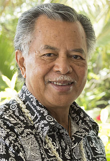 Henry Puna Prime Minister of the Cook Islands