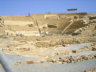 Hephaistia - The ancient amphitheater in Hephaistia