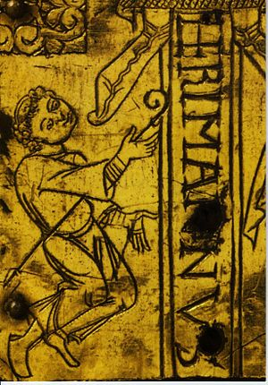 Herman II (archbishop of Cologne) - Detail from an 11th century processional cross (Hermann-Ida-Kreuz), Kolumba museum
