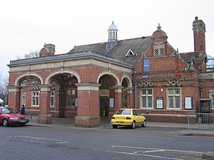 Hertford East railway station - The main entrance to the station