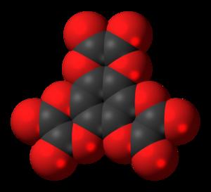 Hexahydroxybenzene trisoxalate - Image: Hexaphenol trisoxalate 3D spacefill