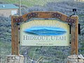 Hideout Welcome sign on SR-248, Apr 16.jpg