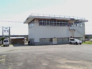 railway station in Tsuno, Koyu district, Miyazaki prefecture, Japan