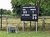 High Beach Cricket Club scoreboard at High Beach, Essex, England 1.jpg