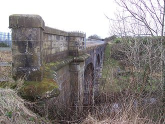 Glasgow, Paisley, Kilmarnock and Ayr Railway - A viaduct on the closed Dalry to Kilmarnock line in 2007
