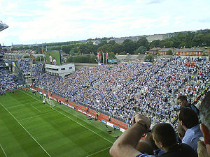 Terrace (stadium) - View of Hill 16 in Croke Park