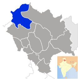 Location of Chamba district in Himachal Pradesh