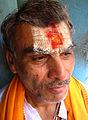 Hindu devotee at Mumbadevi Temple before Holi.jpg