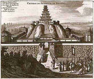 Hirado Castle - A 16th-century French depiction of Hirado Castle based on eyewitness accounts