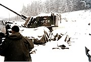 An AuF1 of the French artillery detachment of the IFOR near Sarajevo in 1996.